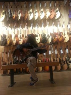 Marel at Guitar Center January, 21, 2016