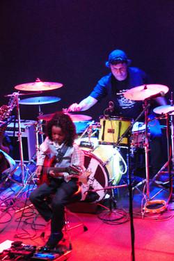 with legendary drummer Joe Nevolo