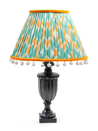 Ikata pleated vintage-style empire lampshade