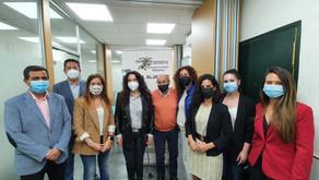Rocio Ruiz, Consejera de Igualdad, Políticas Sociales y Conciliación visita AFA Aljarafe