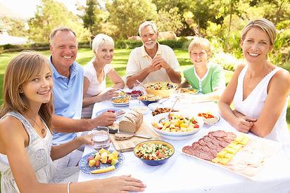 Successful multi-generation family enjoy
