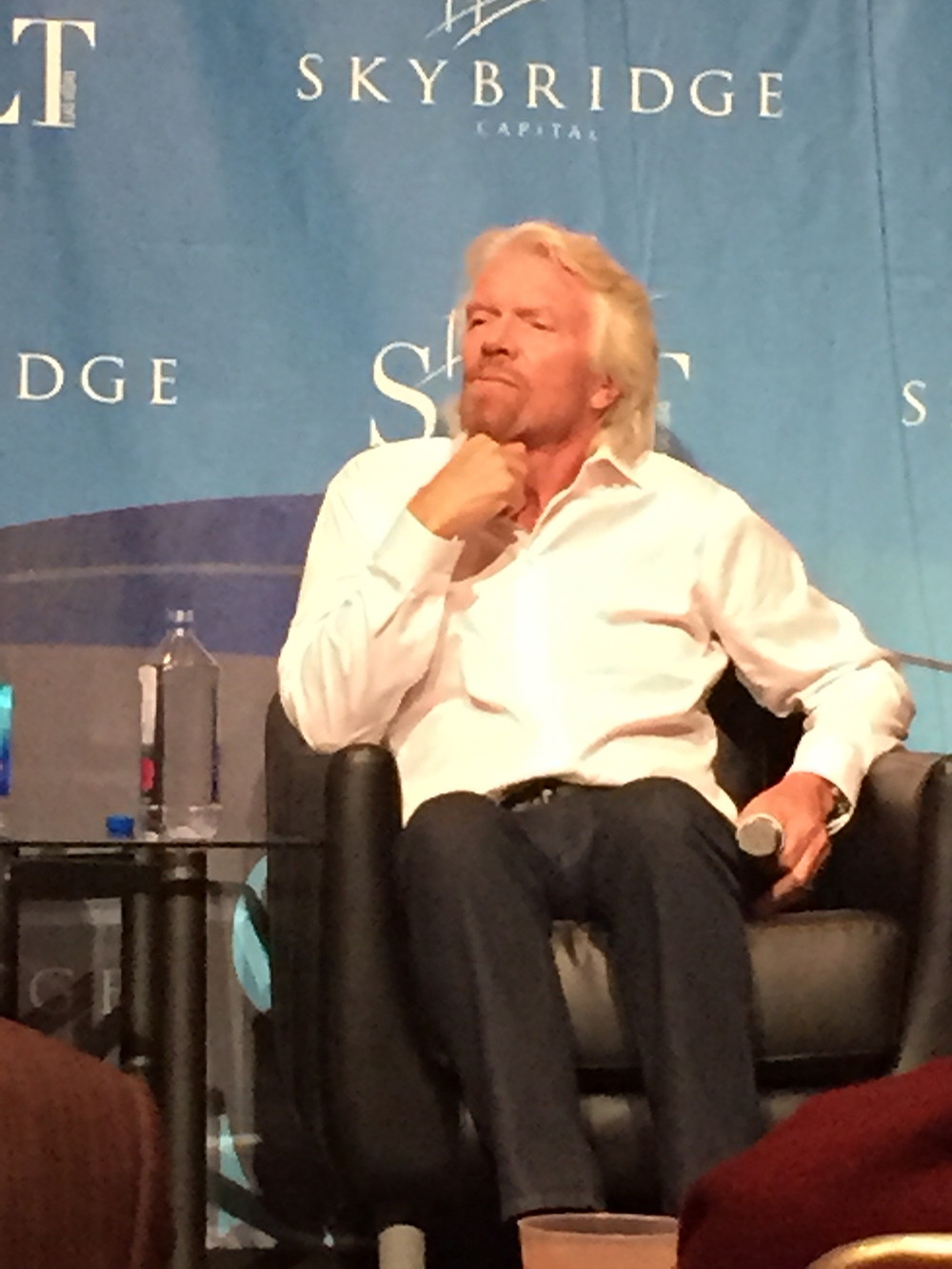 Richard Branson at SALT 2015 with Arthur Salzer