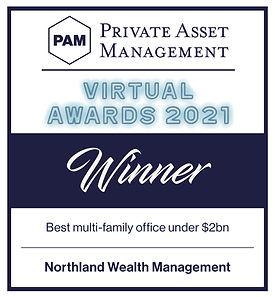 Best Multi Family Office under $2 billion - Private Asset Management Awards 2021