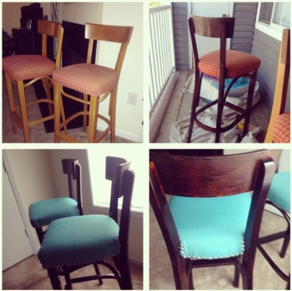 Re-Upholstered Bar Stools