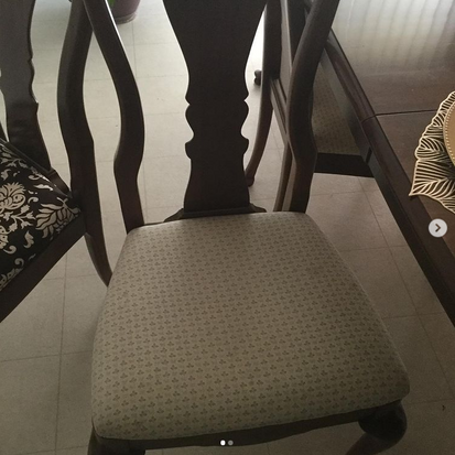 Before &After : Reupholstered Dining Chairs!