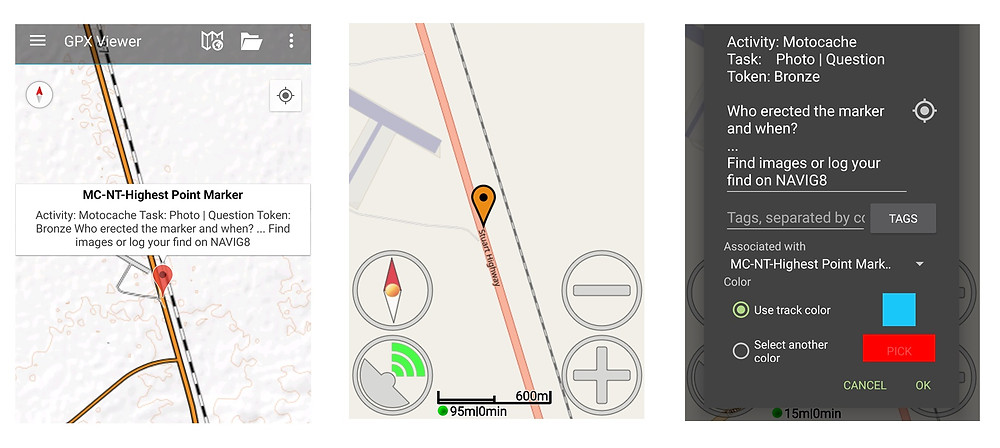 Other app views, GPX Viewer and MyTrails
