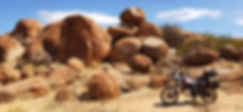 RIDE360 Africa Twin at Devils Marbles