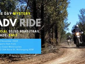 Mystery Adventure Ride   3rd Nov 2018