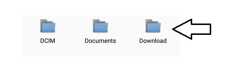 Locate your device Download Folder and open it to view files.