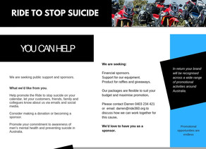Volunteers wanted | Wollongong RideToStopSuicide.