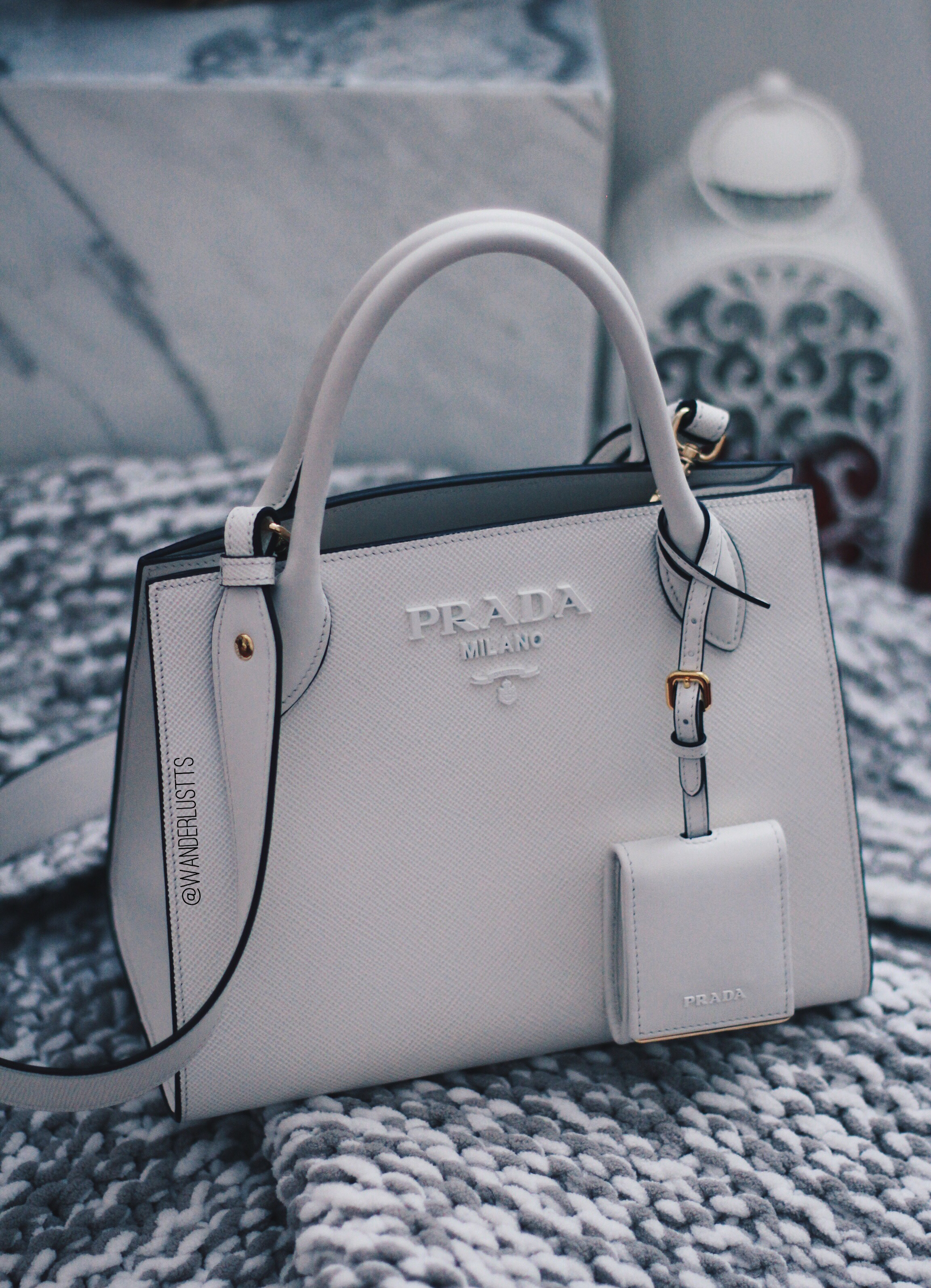 delicate colors soft and light select for best Prada White Monochrome Tote