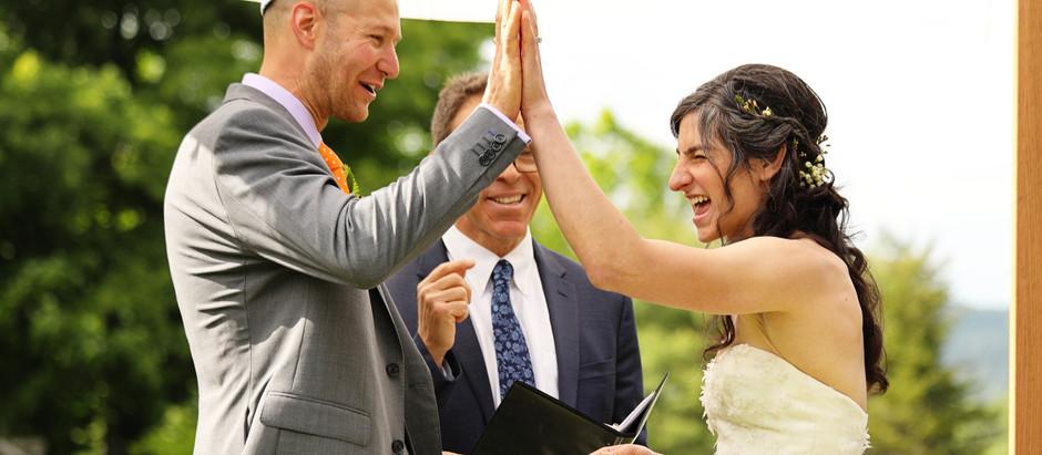 Jessica & Andy's Backyard Wedding in Wilmington, VT