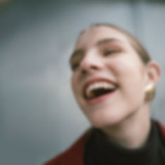 close-up-photography-of-a-laughing-woman