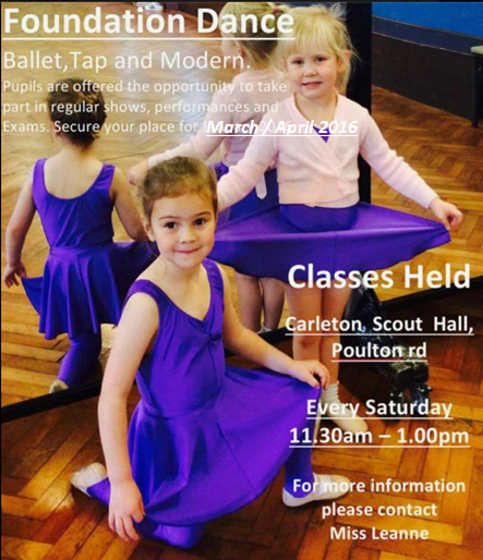 foundation dance face book march april.P