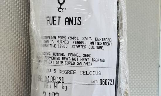 Fuet Anis Salami (100-500gr)