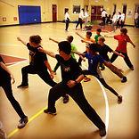 Beginning Fencing footwork being practiced
