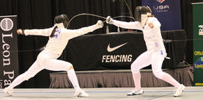 A FRFC fencer at a national fencing competition