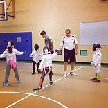 A Children's fencing class