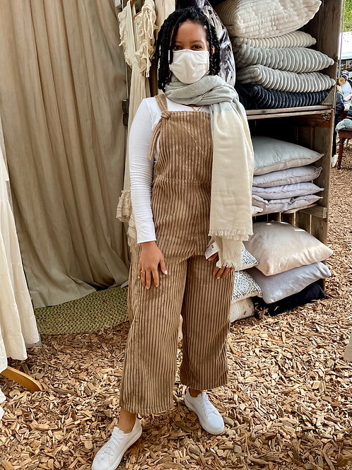 Soft Corduroy Dungaree in Toffee colour