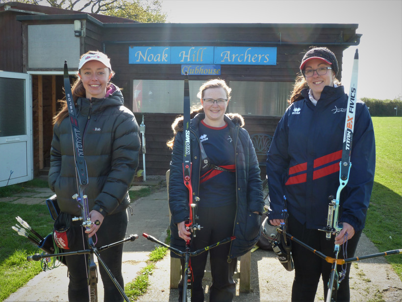 Special visit from GB women's recurve team