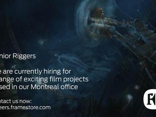 Senior Riggers for Framestore Montreal