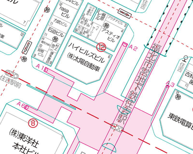 Zmap-TOWNⅡは、一軒一軒の建物名称までカバー