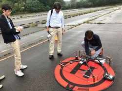 橋梁点検飛行実験1