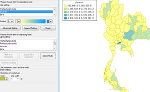 [無償]タイ地図が使える地図色塗りソフト「MapPaint-G」モニター募集