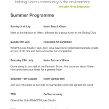 Summer Programme of Activities 2017