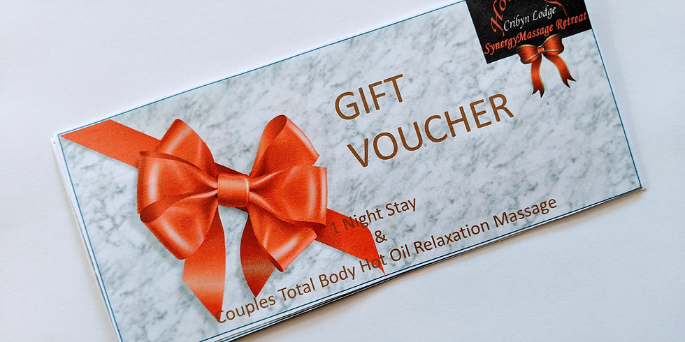 Gift Voucher for a one night stay for Two including 1 hour total body massage for 2 (1)
