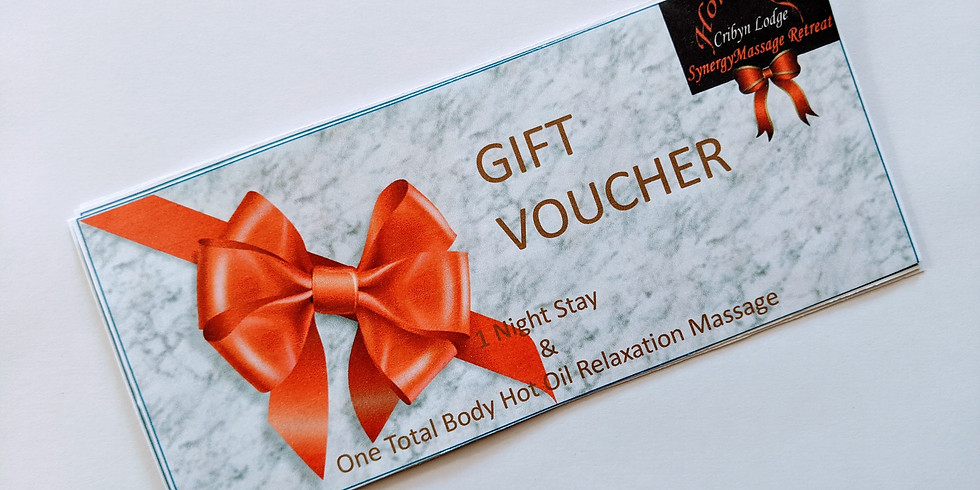 Gift Voucher for a one night stay for one/two including 1 total body massage (1)