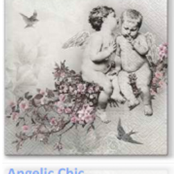 Angelic Chic Luncheon Napkin