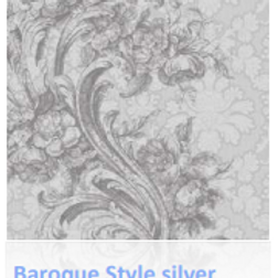 Baroque Style Silver Luncheon Napkin