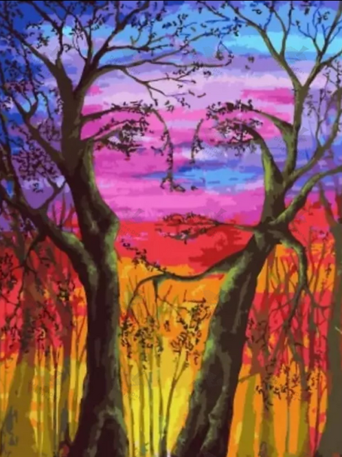 Diamond Dot Painting - Lady of the Trees
