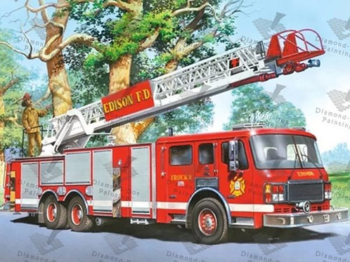 Diamond Dot Painting - Fire Truck
