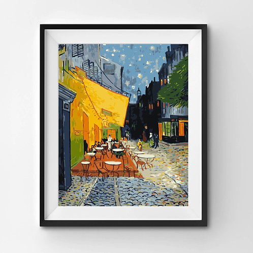 Cafe Terrace at Night - Paint By Numbers