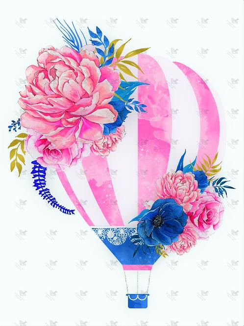Diamond Dot Painting - Pink & Blue Balloon
