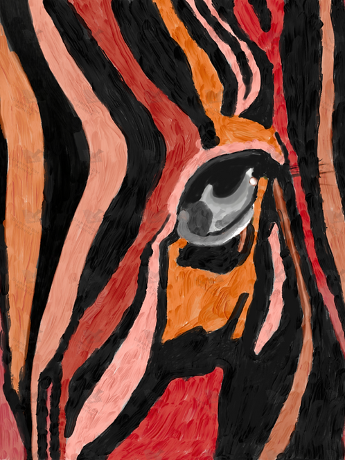 Diamond Dot Painting - Zebra in Brown