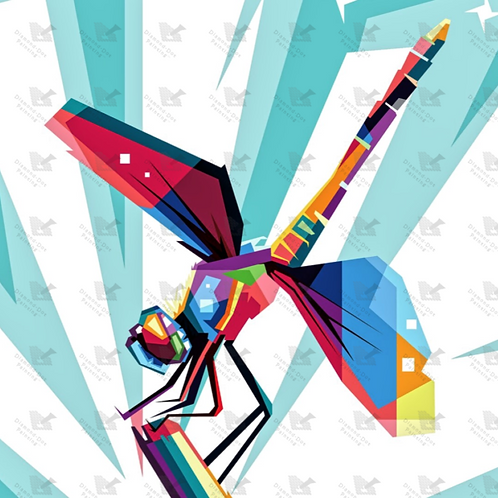 Diamond Dot Painting - Colorful Dragonfly