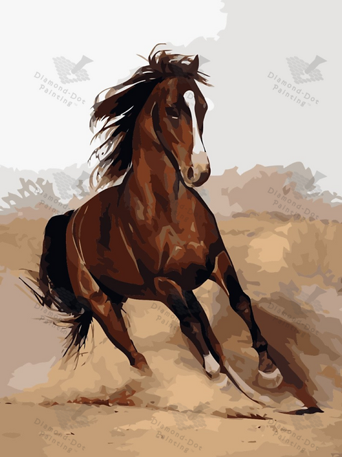 Diamond Dot Painting - Galloping Horse