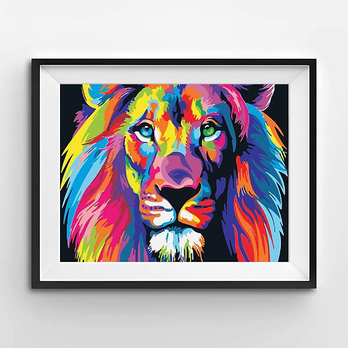Abstract Colorful Lion - Paint By Numbers