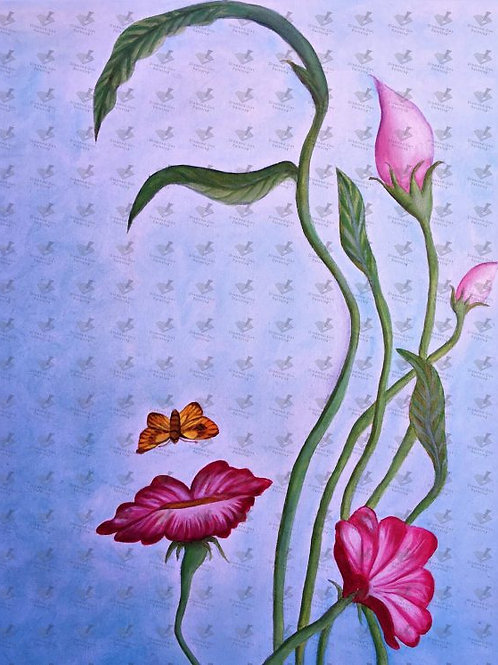 Diamond Dot Painting - Face in the Flowers