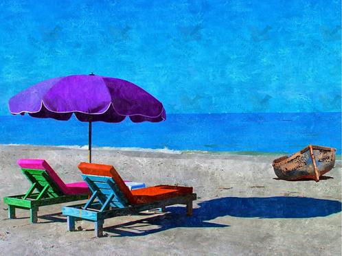 Diamond Dot Painting - The Purple Umbrella