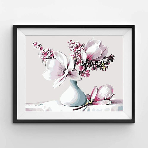 Beautiful Magnolias - Paint By Numbers