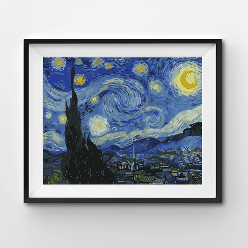 Starry Night - Paint By Numbers