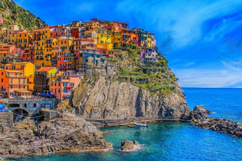 Diamond Dot Painting - Manarola Bay