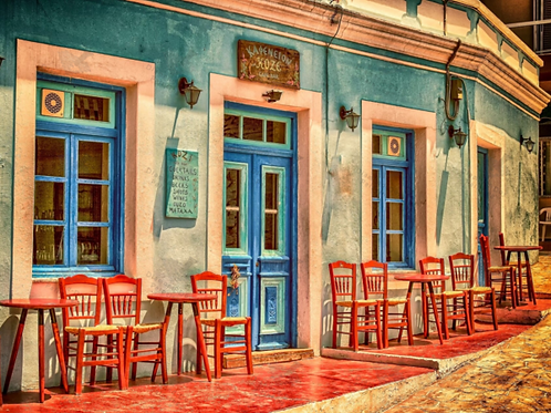 Diamond Dot Painting - Street Cafe