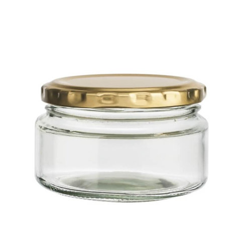 Glass Jar with Gold Lid