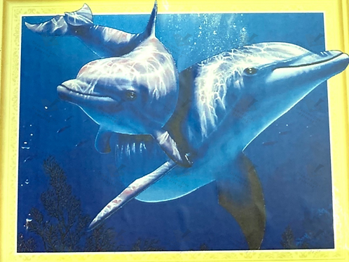 Diamond Dot Painting - Dolphin Duo