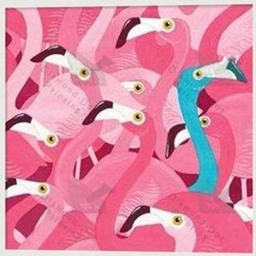 Diamond Dot Painting - Blue Flamingo